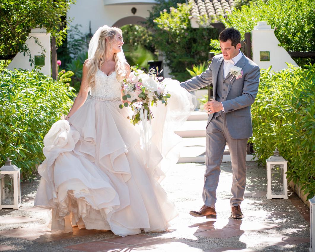 Bride and Groom at El Cortijo De Los Caballos in Estepona, Spain.